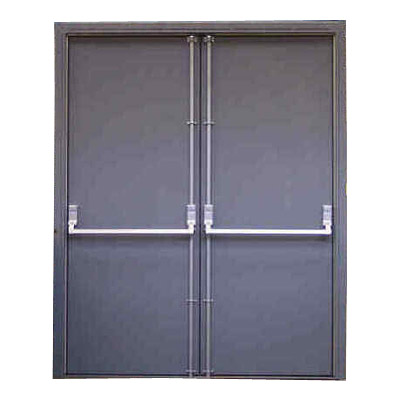 ... Devices.  Fire Doors  sc 1 st  Secur-A-Door Inc. & Pair of Emergency Exit Doors with frame u0026 Panic Devices ... pezcame.com