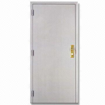 fireproof hollow metal steel door with steel frame mortise lock and spring hinges fire doors