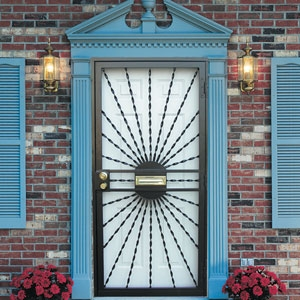 Security Storm Doors sunburst #574-1127 security storm doorguardian | securadoor