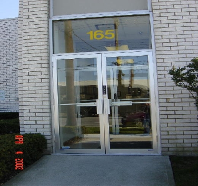 pair of clear anodized aluminum door with frame-great neck saw ...