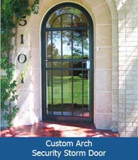 Custom Arch Security Storm Door  Securadoororg. Magnetic Door Release Systems. Spring Garage Door Broken. Shower Door Bumpers. Garage Cabinets Home Depot. Brass Door Knob. Garage Door. Bi Fold Glass Doors. Sliding Door Curtain Panels
