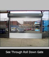 See Through Roll Down Grill Gate