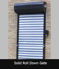Solid Roll Down Gate